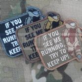 Mil-Spec Monkey Velcro Morale Patch EOD Running
